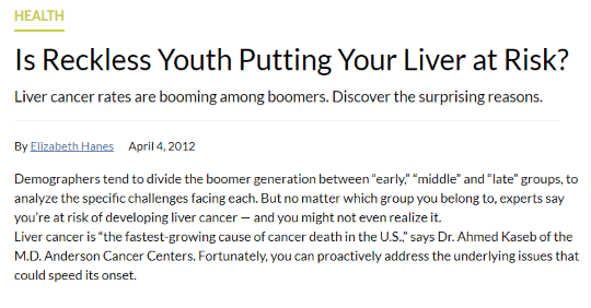Is Reckless Youth Putting Your Liver at Risk?