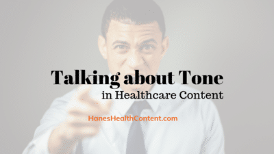 Angry man demonstrating tone in healthcare content